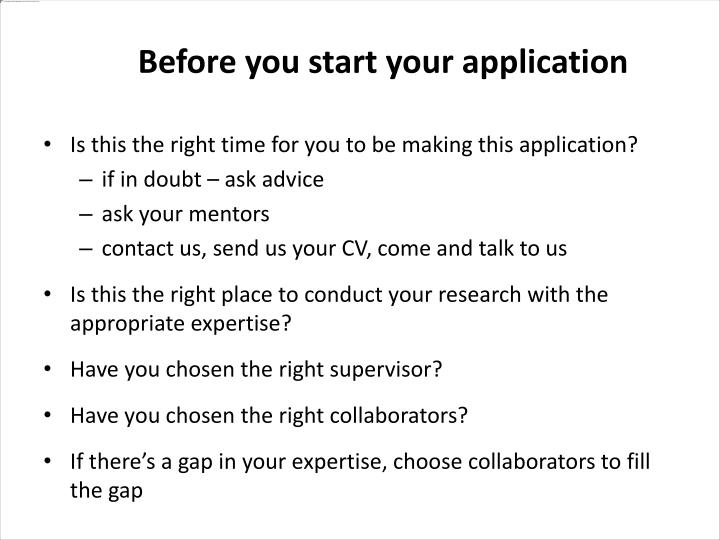 Is this the right time for you to be making this application?