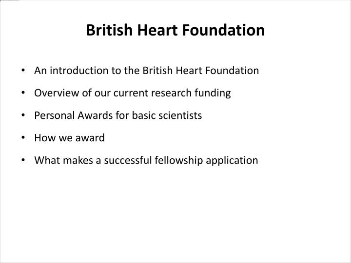 An introduction to the British Heart Foundation