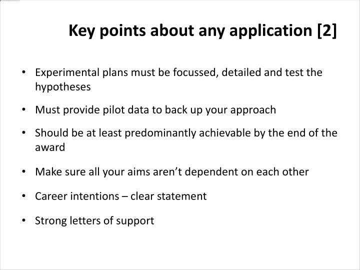 Experimental plans must be focussed, detailed and test the hypotheses