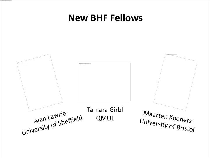 New BHF Fellows