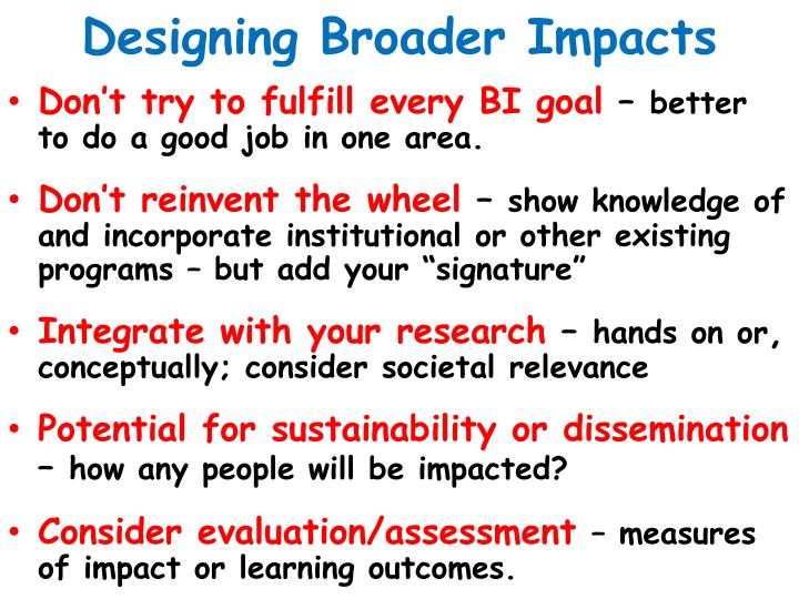 Designing Broader Impacts