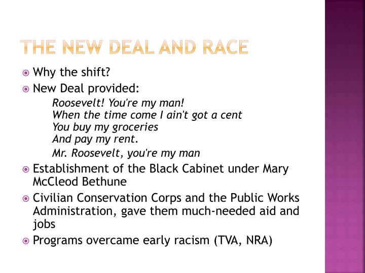 The New deal and race