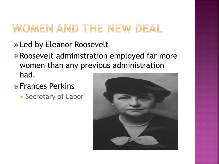 Women and the New Deal