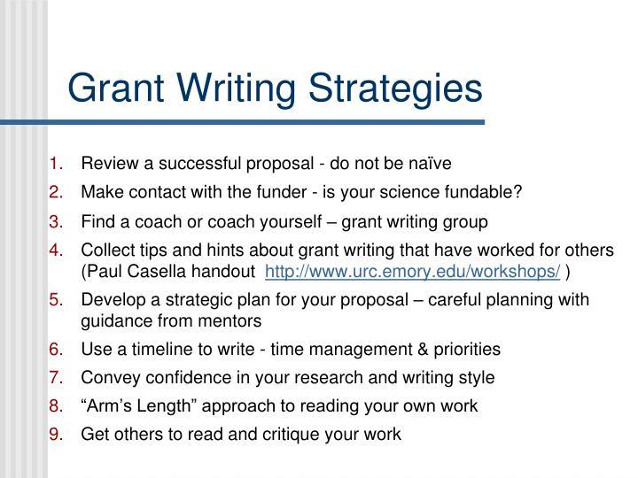 Grant Writing Strategies