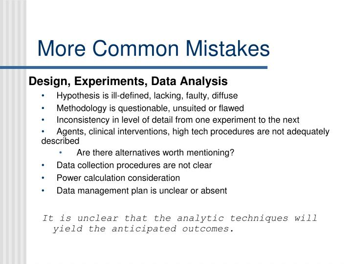 More Common Mistakes