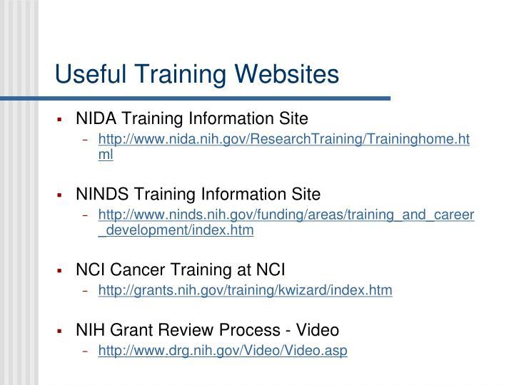 Useful Training Websites
