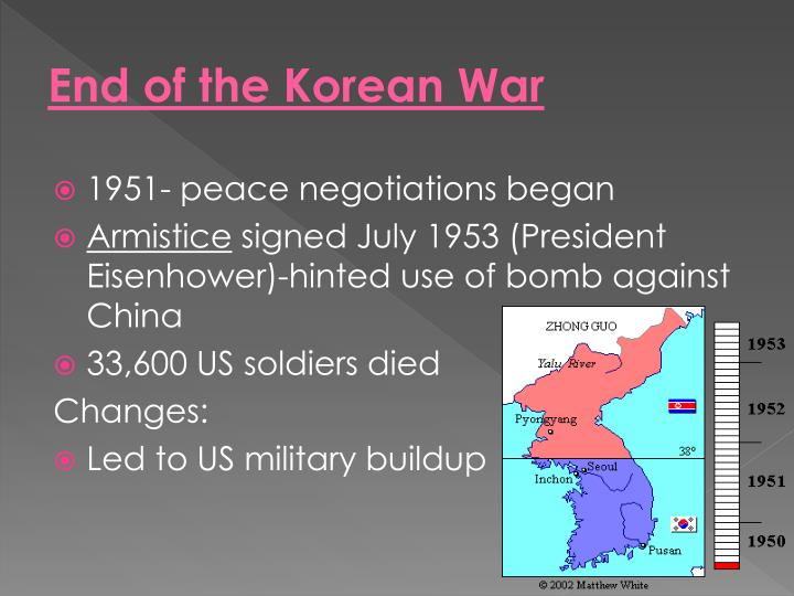 End of the Korean War