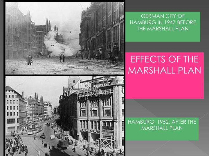 GERMAN CITY OF HAMBURG IN 1947 BEFORE THE MARSHALL PLAN