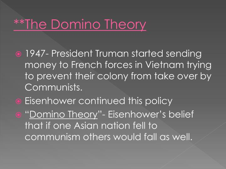 **The Domino Theory