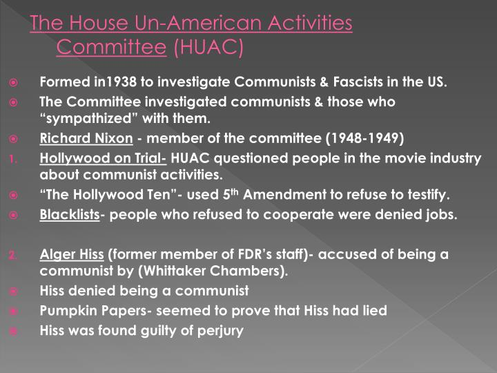 The House Un-American Activities