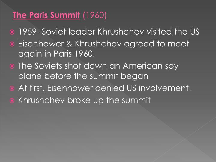 The Paris Summit