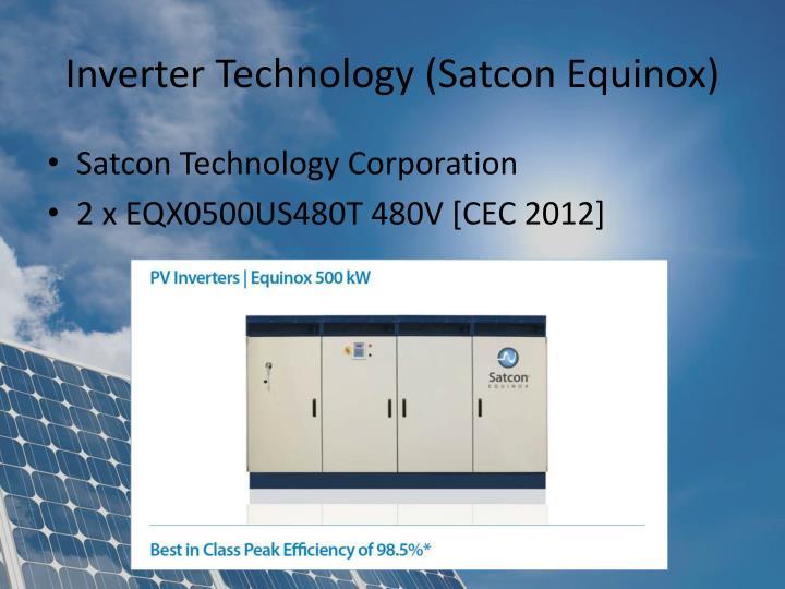 Inverter Technology (Satcon Equinox)