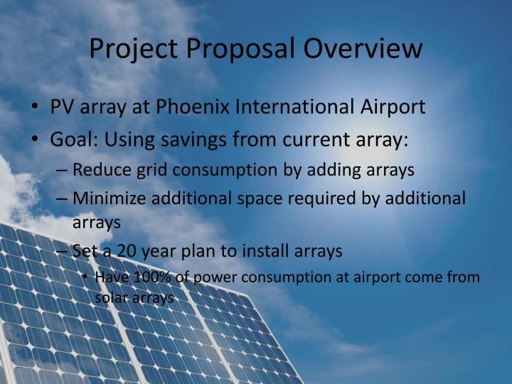 Project Proposal Overview