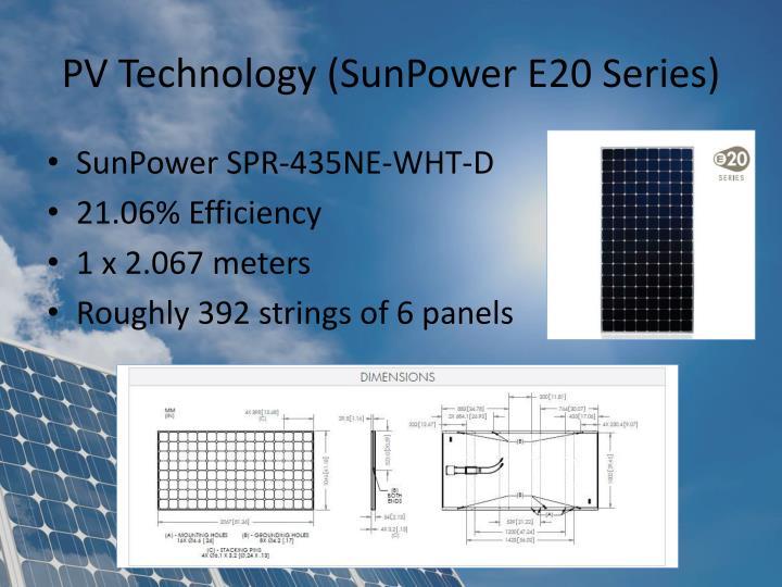 PV Technology (SunPower E20 Series)