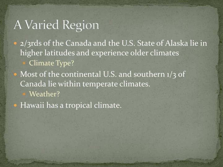 A Varied Region