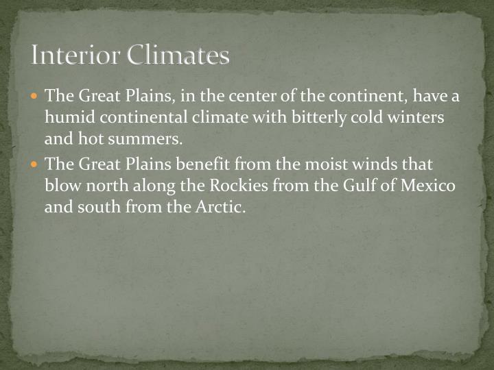 Interior Climates