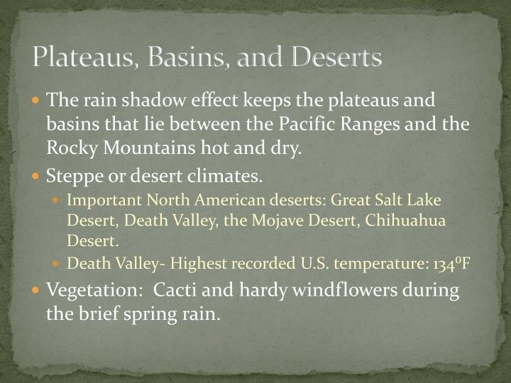 Plateaus, Basins, and Deserts