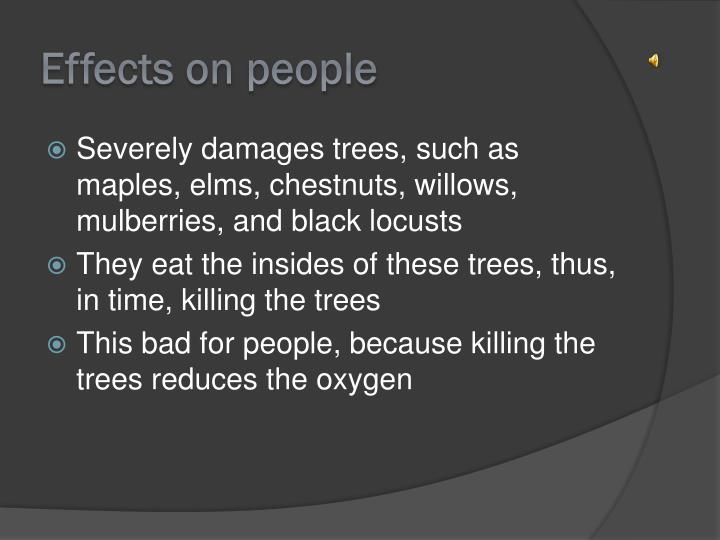 Effects on people