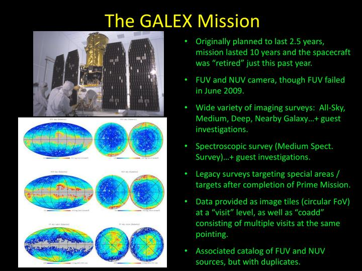 The GALEX Mission