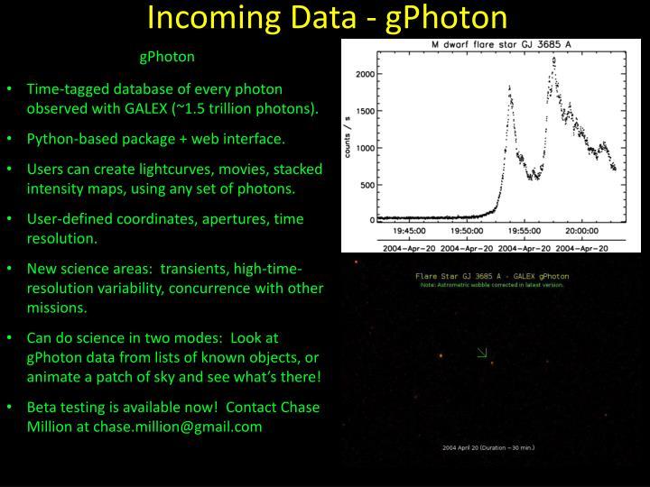 Incoming Data -