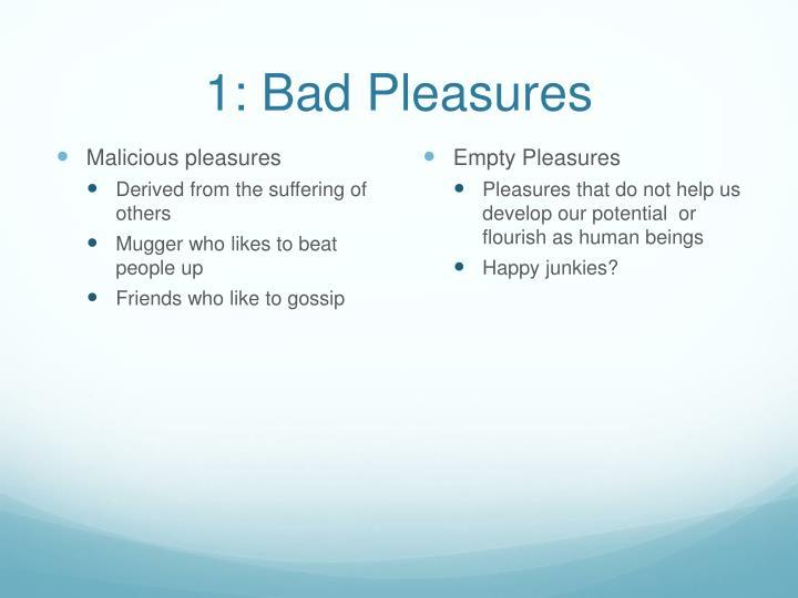 1: Bad Pleasures