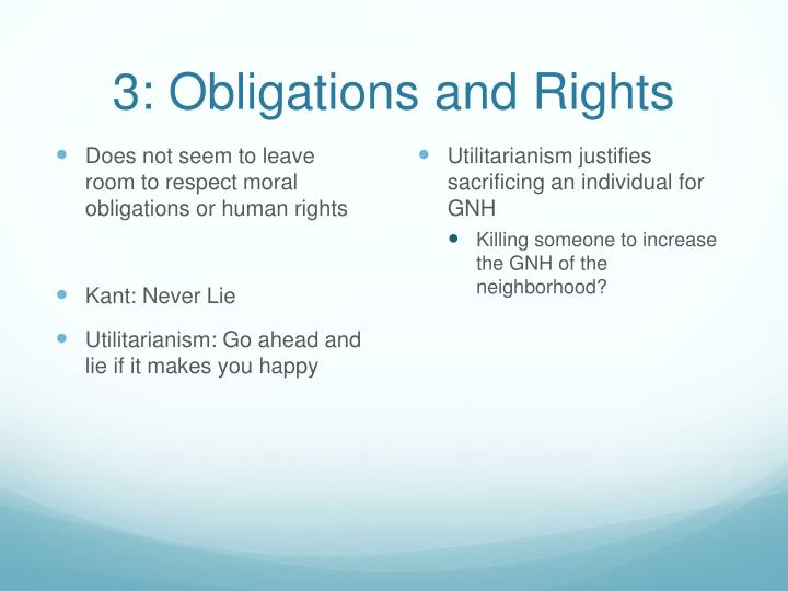 3: Obligations and Rights