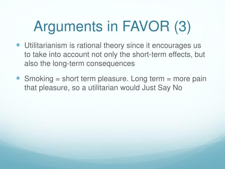 Arguments in FAVOR (3)