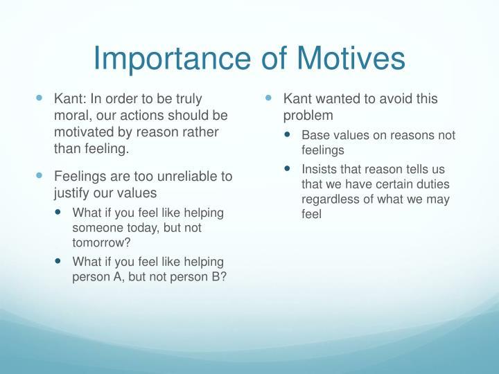 Importance of Motives