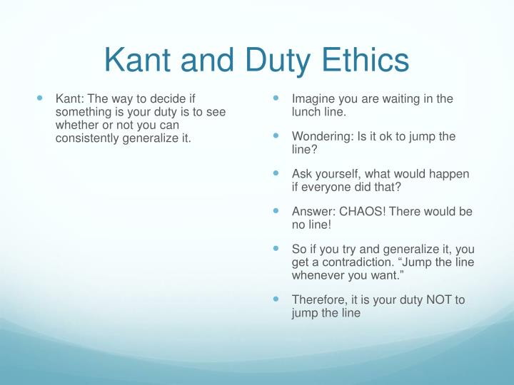 Kant and Duty Ethics