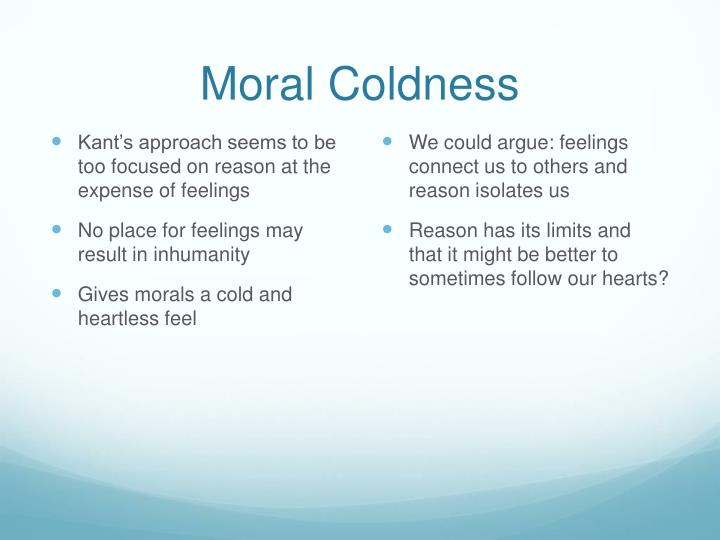 Moral Coldness