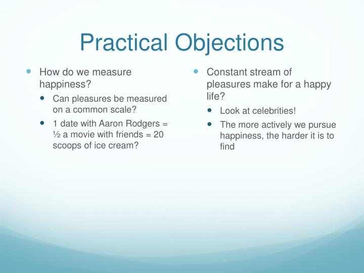 Practical Objections