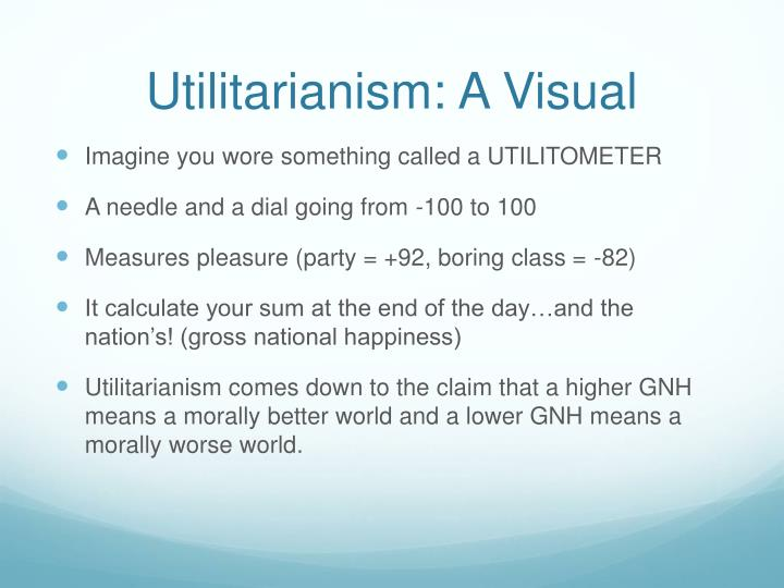 Utilitarianism: A Visual
