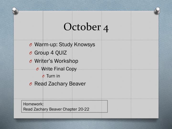 October 4
