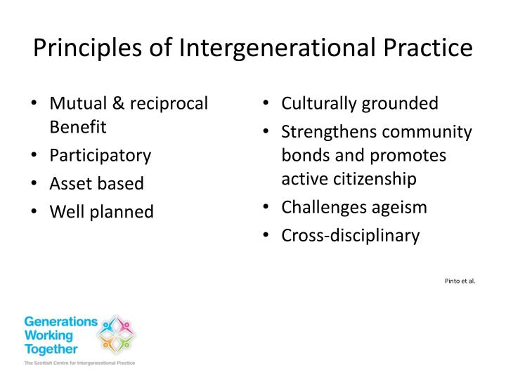 Principles of Intergenerational Practice