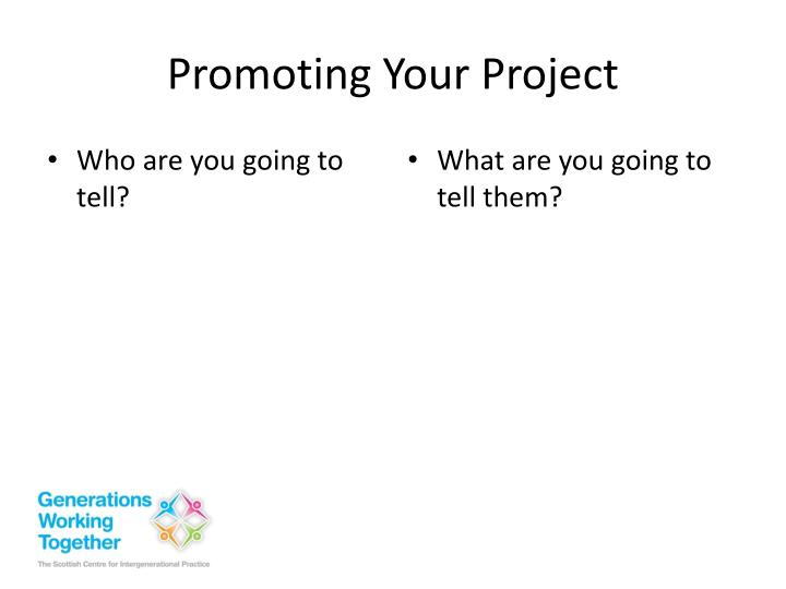 Promoting Your Project