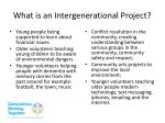 what is an intergenerational project