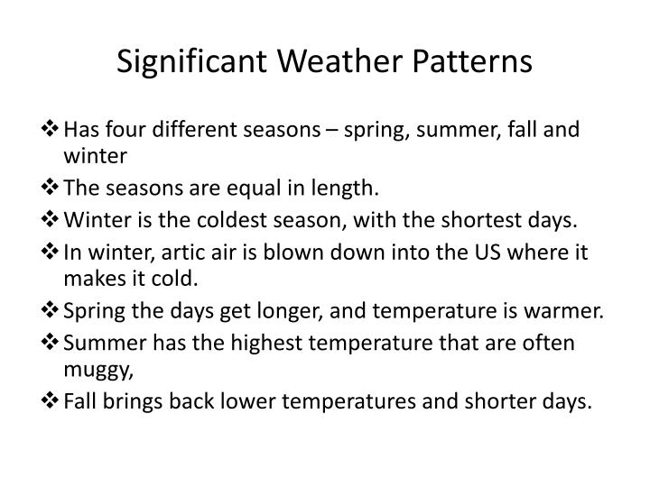 Significant Weather Patterns