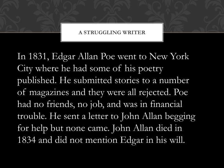 A STRUGGLING WRITER