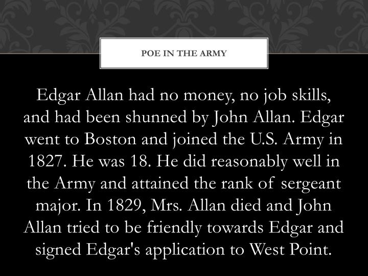 POE IN THE ARMY