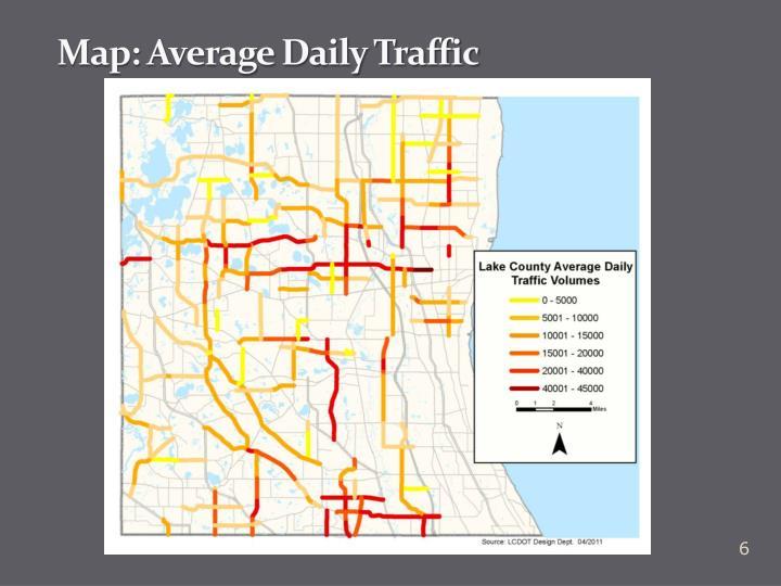 Map: Average Daily Traffic