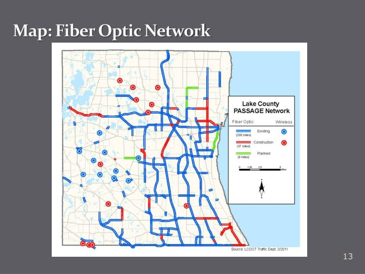 Map: Fiber Optic Network