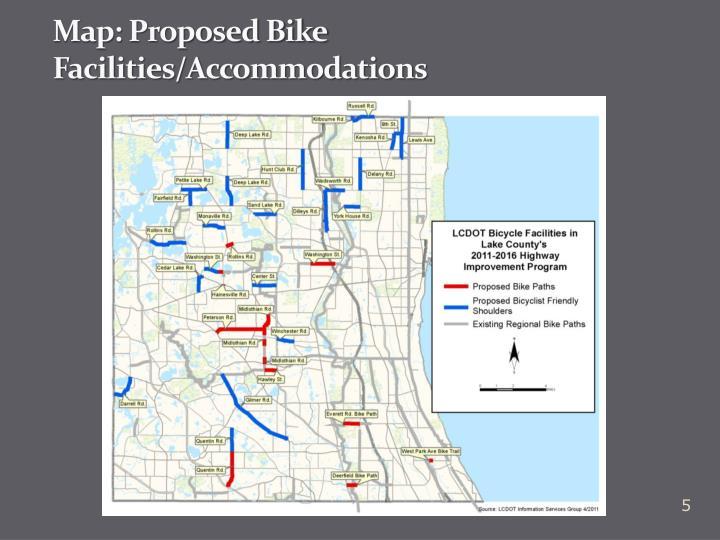 Map: Proposed Bike