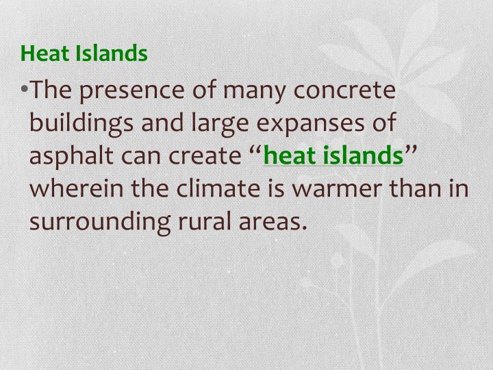 Heat Islands