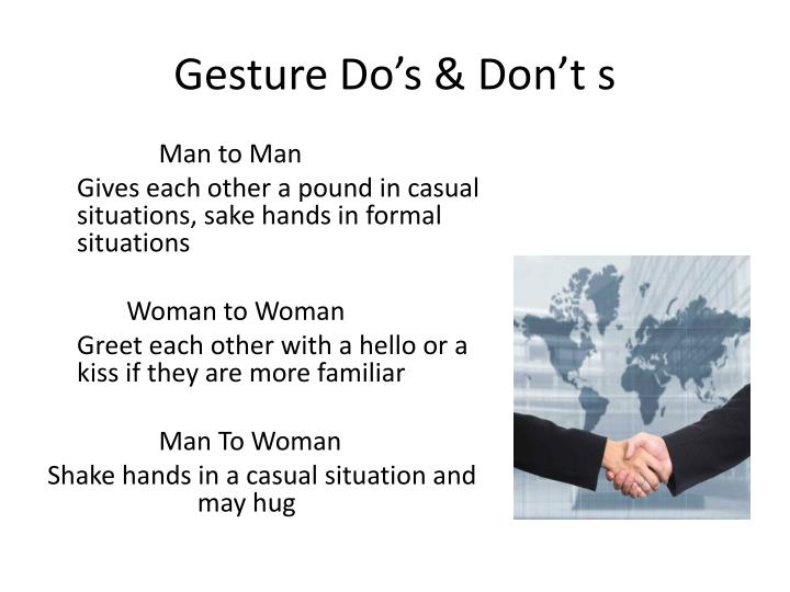 Gesture Do's & Don't s