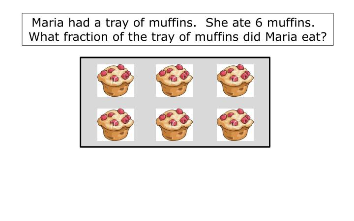 Maria had a tray of muffins.  She ate 6 muffins.