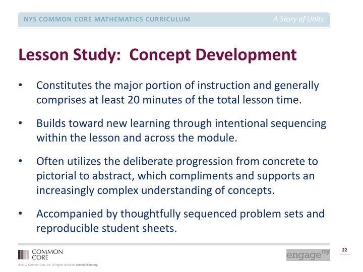 Lesson Study:  Concept Development