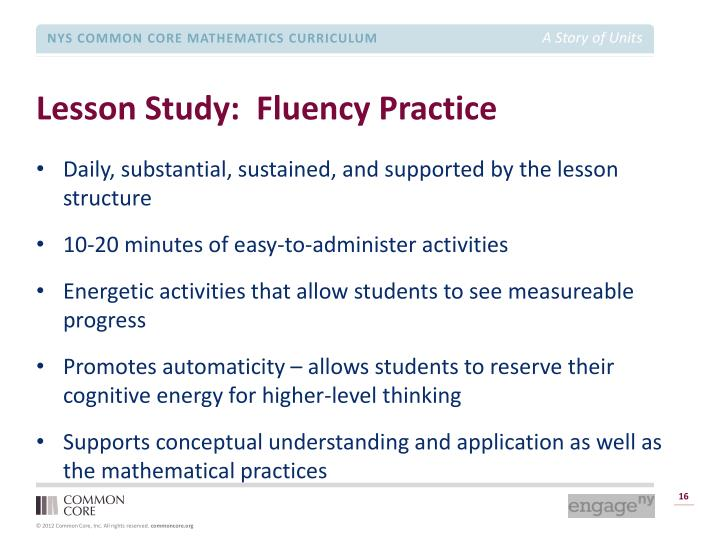 Lesson Study:  Fluency Practice