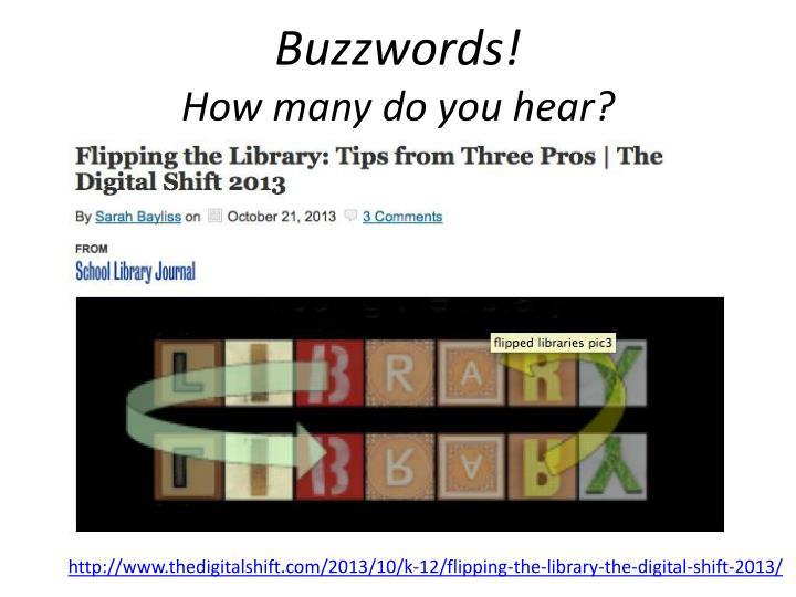 Buzzwords!