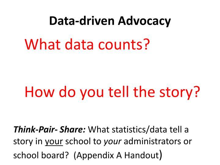 Data-driven Advocacy