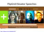 flipgrid elevator speeches